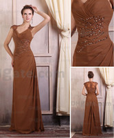 Wholesale 2013 Sexy New Elegant Cap Sleeves Beaded Chiffon Mother of the Bride Dress plus size ML008