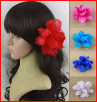 Wholesale 2013 Fashion New Beautiful Handmade Feather Flower Hairpin Head Clip Tire Hair Circle Multi Colors