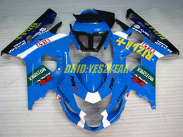 RIZLA blue Fairing body kit for SUZUKI GSXR600 750 GSX-R600 2004 2005 Bodywork GSXR 600 GSXR750 K4 04 05 Fairings set+gifts
