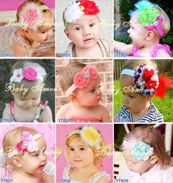 Hot!50pcs Baby Girl Toddler Infant Elastic Flower Headband Child Hair Accessories Headwear Hair Band
