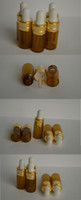 Wholesale x3ml AMBER GLASS EYE DROPPER BOTTLES VIALS ESSENTIAL OIL BOTTLES STORAGE SAMPLEING