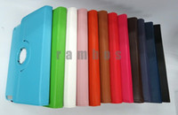 Wholesale 300pcs Degree Rotating Hard Magnetic Leather Case Smart Cover Stand for ipad