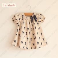 Wholesale New Lovely Kids T shirts Fashion Girls Tops short sleeve Fawn Blouse deer pattern Children Dress