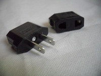 Wholesale 10X EU to US AC POWER PLUG ADAPTER TRAVEL CONVERTER