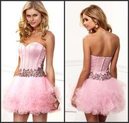 Wholesale New elegant sweetheart layered belt Corset Bodice Sheer homecoming dress prom dresses party dresses