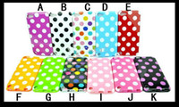 Wholesale Polka Dot Dots TPU Gel Soft Silicone Rubber Case Cover skin Shell for Apple Ipod Touch th gen