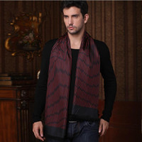Wholesale New Winter Men Scarves Silk Striped Valentine s Gift