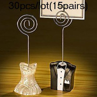 Wholesale Bride amp Groom Wedding Place Card Holder For Wedding Favors and Gifts pairs Real Photos