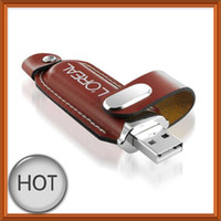Real 2GB 4GB 8GB USB 2. 0 Leather USB Drive Stick + FREE Cust...