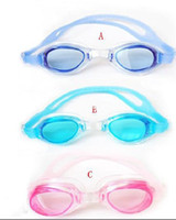 baby swim goggles - New hot sale Adult and baby swimming goggles Anti fog swim glasses frame and nose bridge in one10pcs
