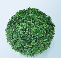 Wholesale 25cm Plastic GREEN GRASS BALL Artificial Boxwood Ball Outdoor Indoor Decoration Plant
