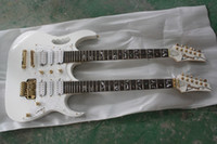 White Solid New Free Shipping White Double Neck Solid Body Guitar 12 Strings Electric Guitars hjffd