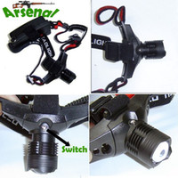 Wholesale 2013 New Design Hunting LED Headlamp W Lm CREE Q5 LED Coal Mining Light Zoomable Headlight