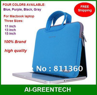 Wholesale High Quality Brand Laptop Notebook Sleeve Bag Protector For MacBook inch