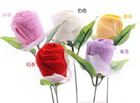 Wholesale Roses towel Valentine s Day gifts wedding supplies New Year gift