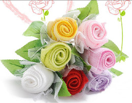 Wholesale Hot Roses towel Valentine s Day gifts wedding supplies New Year gift