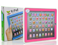 Wholesale Hot New Kid s Educational Toys Y Pad English Tablet Computer Learning Machine Touch Screen FREE SH