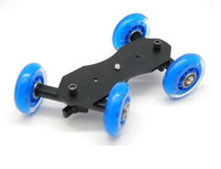Cheap FREE SHIPPING NEW 1PIECE TableTop compact Dolly Kit Skater wheel Camera Truck Stabilizer for 5D2 video