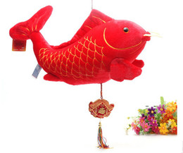 Wholesale Fashion Plush fish Doll Valentine s Day gifts wedding supplies New Year gift cm