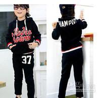 3-7years  aa wear - Hot New children boys letter design hoody coats pants trousers boys suit fashion casual wear aa