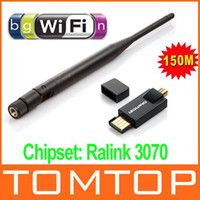 Wholesale 150Mbps USB Mini Wireless WiFi Adapter wireless Network Card With External Antenna C1488