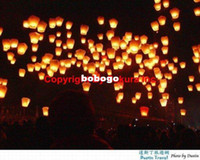 Sky Lantern Holiday other 20pcs lot Oval shape Chinese Fire Sky Lanterns Wishing Balloon For Birthday Christmas Wedding Party