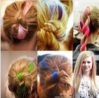 Wholesale Explosion models multicolor into hot can trim color streaked wig piece