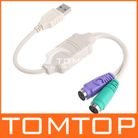 other USB Cable  USB to PS2 PS 2 Converter Cable Adapter keyboard Mouse TAZH08