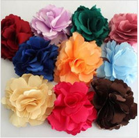 Wholesale 18pcs Fashion Fabric Flower Hair clips Flower Corsage Brooch Pins