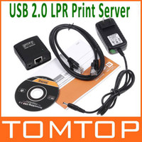 Cheap Network USB 2.0 LPR Print Server Hub Adapter Ethernet LAN Networking Share Free Shipping V343