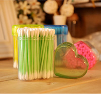 Wholesale Make up Stick Natural Cotton Health Swab Bales Double headed Cotton Swabs Boxed Sanitary Napkins