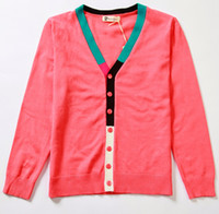 unisex 9T-10T Spring / Autumn kids red jackets cardigan coats overcoats sweaters jumpers shirts sweatshirts overcoats blouse M1374
