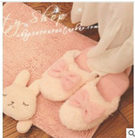 Wholesale Pairs Cute Bowknot Pattern Slippers For Lovers Candy Colors New Hot Sale