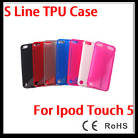 Wholesale Crystal Transparent S Line Soft TPU Gel Silicone Case Cover Skin for Apple IPod Touch th gen new