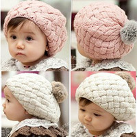 Wholesale Hot Sell Piece New Autumn Winter Baby Hat Bonnet Style Kid Crochet Cap Lovely Infant s Headwear a