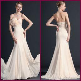 Wholesale Wow graceful mermaid prom dress sweetheart flower chiffon evening dress lady formal dress cheap