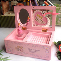 Wholesale New Spinning Princess Jewelry Romantic Music Box To Alice Mirror Valentine Gift
