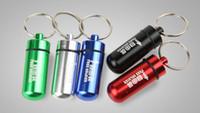 Wholesale Mini aluminum Pill bottle container key chain Jar Stash jar Stash Container