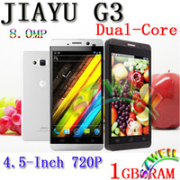 Wholesale JIAYU G3 MTK6577 Dual core G RAM MP Android with inch HD IPS screen G Cell phone