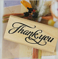 Wholesale vintage style thank you series stamp rubber stamp toy stamp