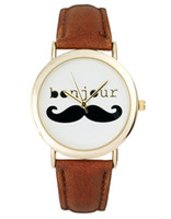 Wholesale 2013 Sell like hot cakes new ASO Top Fashion Mustache Bonjour men and women watch free delivery