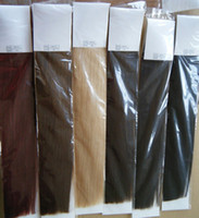 Wholesale 180g quot quot quot clip in hair extensions Indian Remy human hair