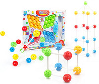 Wholesale hot sale plastic toys changeable DIY inserted beads blocks magic beads intelligence toys