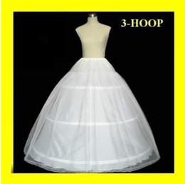 El resbalón lleno de la falda de la boda de la enagua de Crionline del hueso nupcial de la enagua de la venta 3 del aro caliente de la enagua resbala nuevo H-3