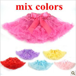 Wholesale Baby TuTu Dress Korea Style petti skirt Dresses Kids cute bowknot Skirt Girl s Pleated Skirt