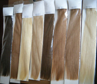 Wholesale 100g quot quot quot quot b Indian Remy Human Hair Weaves Weft Extension DHL