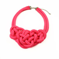 Wholesale Hot sale candy Neon fluorescence color handmade chunky choker women collar bib statement necklace