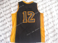 Wholesale Basketball Jerseys Black Yellow Line Jersey Adult Kids Size Mix Order