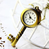 Wholesale Vine Antiqued Key Necklace Pendant Watch