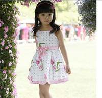 TuTu baby love yarn - Children Dresses Girls Advanced Floral Yarn Angel Rose Great Skirt Loving Bow